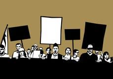Démonstrateurs sur la protestation illustration stock