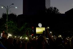 Demonstration in Bucharest, a year after gendarmes attacked protestors, tourists and journalists