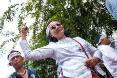 Démonstration à la rue de Diponegore - Jakarta le 25 mars 2013 Images stock