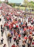 Démonstration énorme dans la rue de Montréal Photos libres de droits