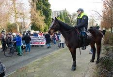 Démonstration contre des réfugiés photo stock