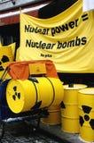 Démonstration d'énergie nucléaire Photographie stock libre de droits