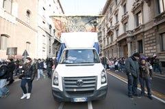 Démonstration d'étudiant à Milan le 14 décembre 2010 Image libre de droits