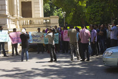 Démonstration dans la région d'EL Dokki, le Caire, juillet 2012 Photographie stock libre de droits
