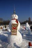 Démonstration de bonhommes de neige Images libres de droits