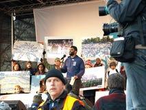 Démonstration de changement climatique de l'ONU Photos libres de droits