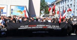 Démonstration de néonazi de 03 septembre 11 à Dortmund Allemagne Images stock