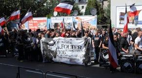 Démonstration de néonazi de 03 septembre 11 à Dortmund Allemagne Photos libres de droits