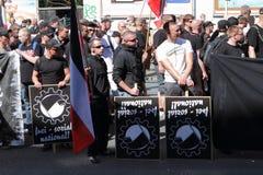 Démonstration de néonazi de 03 septembre 11 à Dortmund Allemagne Photographie stock