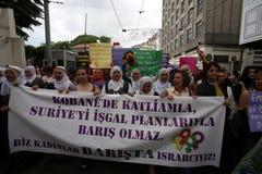 Démonstration de paix de femmes Photographie stock libre de droits