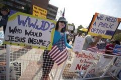 Démonstration de réforme de santé à l'UCLA Photo libre de droits
