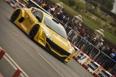 Démonstration de trophée de Bucarest Megane d'exposition de route de Renault Photos stock