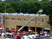 Démonstration du corps de sapeurs-pompiers photo stock