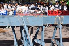 Démonstration du parti démocratique de la Chine pour libérer Wang Bingzhang, Liu Xiaobo Images stock
