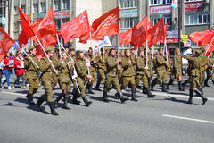 Démonstration en l'honneur de Victory Day le 9 mai 2016 Tyumen Photo stock