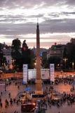 Démonstration en Piazza del Popolo, Rome Photographie stock libre de droits