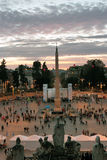 Démonstration en Piazza del Popolo, Rome Photos libres de droits
