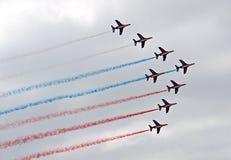 Démonstration militaire de vol sur la fête aérienne 2009 Photos stock