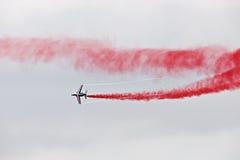 Démonstration militaire de vol sur la fête aérienne 2009 Image stock