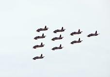 Démonstration militaire de vol sur la fête aérienne 2009 Images libres de droits