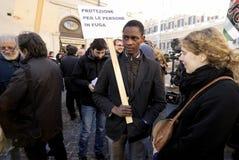 Démonstration paisible à Rome, Italie Photos stock