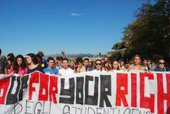 Démonstrations à Gênes, Italie contre le governm Images stock