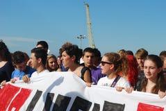 Démonstrations à Gênes, Italie contre le governm Image stock