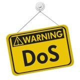 Déni de service le panneau d'avertissement Photo libre de droits