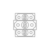 Dénomination du dollar Images libres de droits