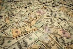 dénominations américaines de billets de banque diverses photographie stock libre de droits