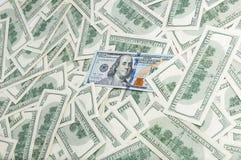 Dénominations de cent dollars Fond des billets de banque Fond du dollar Photographie stock