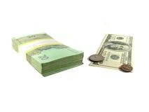 Dénominations monétaires Photographie stock libre de droits