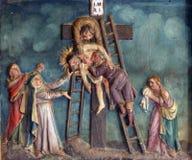 Dépôt de la croix image stock