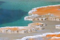 Dépôts de minérai colorés dans Yellowstone NP Images stock