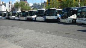 Dépôt d'autobus Photos libres de droits