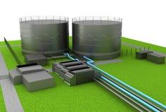 Dép40t de pétrole et de produit chimique et réservoirs de stockage