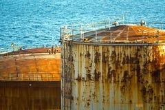 Dép40t de pétrole et de produit chimique et réservoirs de stockage Image libre de droits