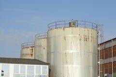 Dép40t de pétrole et de produit chimique et réservoirs de stockage Images stock