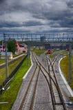 Dépôt de train Image libre de droits