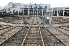 Dépôt de train de vapeur au musée ferroviaire de Kyoto Images libres de droits