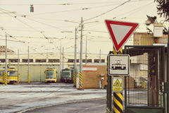 Dép40t de tramway Photo libre de droits