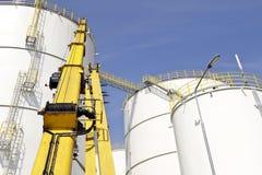 Dép40t de pétrole et de produit chimique et réservoirs de stockage Photographie stock