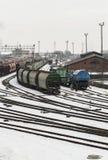 Dép40t de train dans Klaipeda photos stock