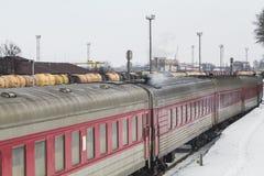 Dép40t de train dans Klaipeda images libres de droits