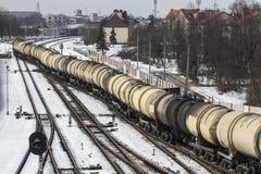 Dép40t de train dans Klaipeda photographie stock libre de droits