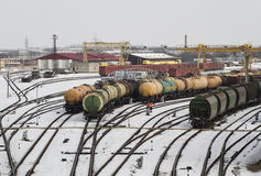 Dép40t de train dans Klaipeda photo stock