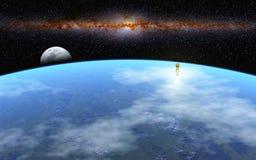 Départ à la lune Image libre de droits