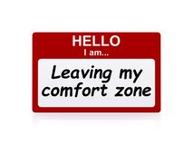 Départ de ma zone de confort illustration libre de droits