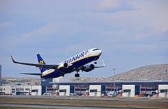 Départ de vol de Ryanair d'aéroport d'Alicante Image stock