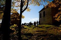 Départ du calvaire d'Oka Photo libre de droits